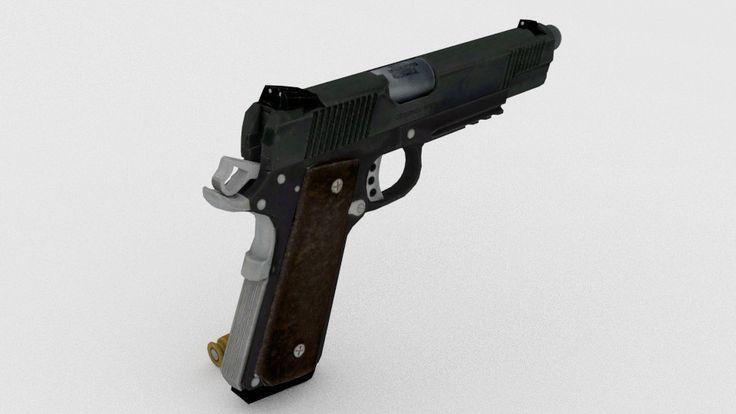 Springfield Armory 1911 Pistol 3D Obj - 3D Model