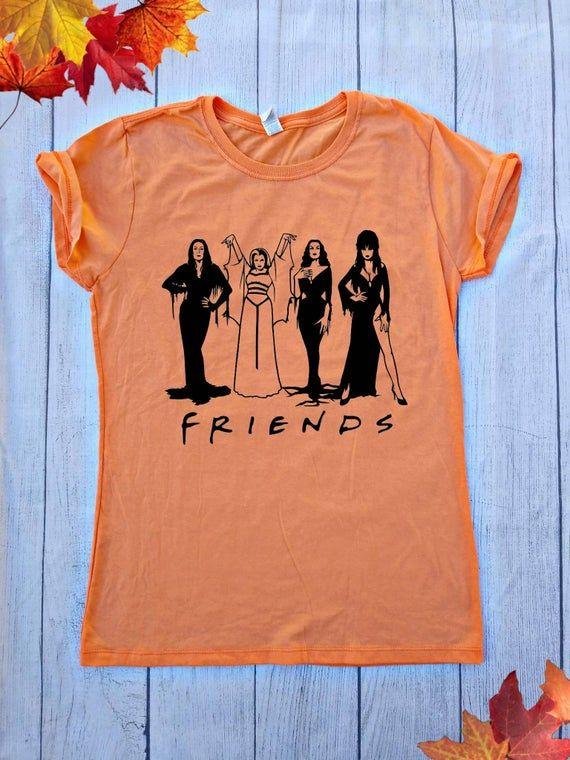 Halloween 2020 Womens Shirts FRIENDS Halloween Shirt / Spooky Girls Shirt / Morticia Addams