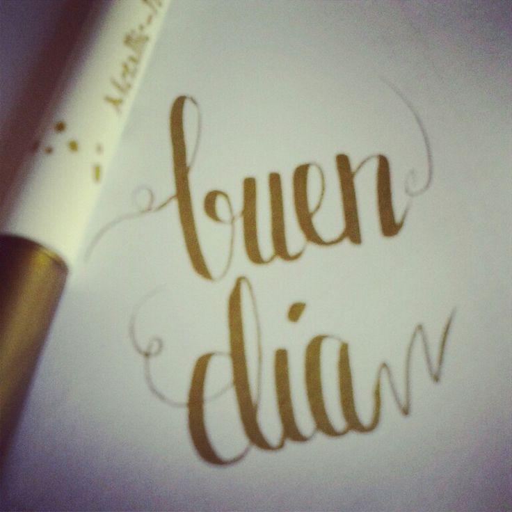 Buen dia lettering