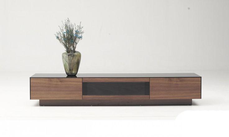 Modrest Darius Modern Walnut TV Stand - Stylish Design Furniture