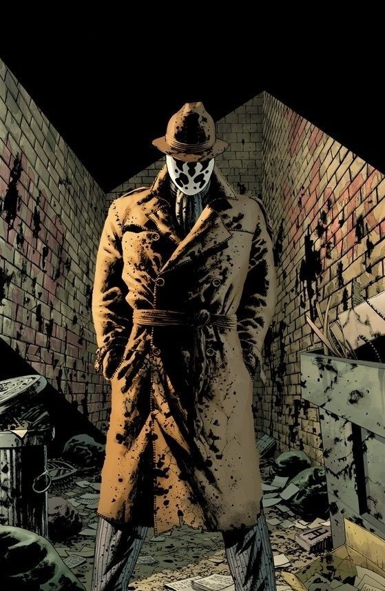 Rorschach! Favorite guy in the movie! stuck true to himself the entire time. and had the most awesome line of the movie!