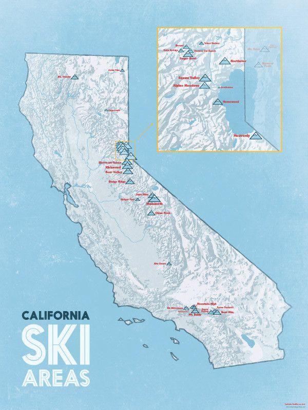 Worksheet. Michigan Ski Resorts Map 18x24 Poster  Ski resorts Resorts and