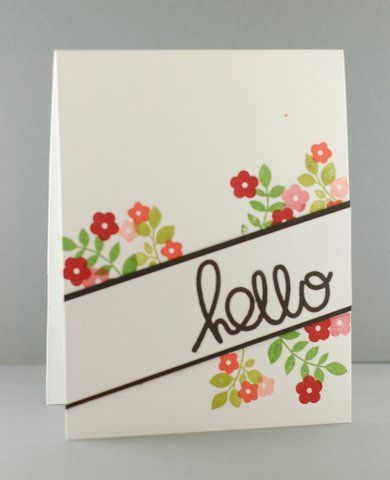 Card by SPARKS DT Lynn Magnan, Paper Smooches stamp sets: Bold Buzzwords, Botanicals2