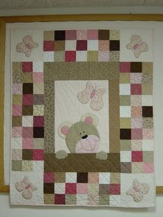teddy bear or any animal.... how about using minky for the applique?