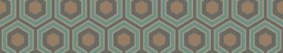 Hicks Hexagon (95/3018) - Cole & Son Wallpapers - An interesting small scale geometric design made up of grey, blue and gold hexagons with metallic highlights. More colours are available. Please order a sample for true colour match. Paste-the-wall product.