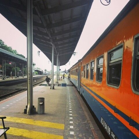 Train in Java Island, Indonesia.  You need only $ 4 to cross around the island.