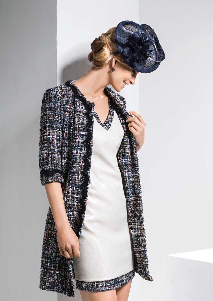 Linea Raffaelli dress 171-765-01, coat 171-701-01 set 055, resort collection 2018
