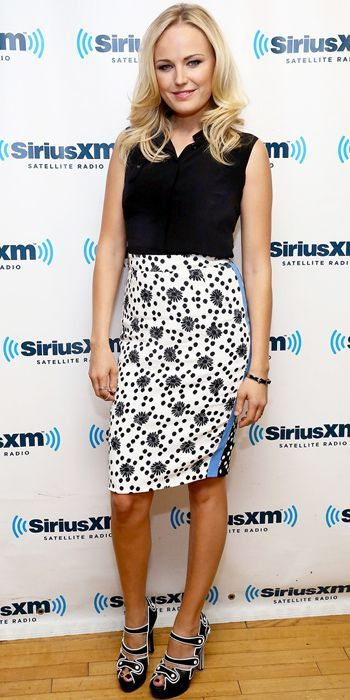 Malin Akerman wearing Chrissie Morris 'Amber' style #chrissiemorrisshoes #chrissiemorris #jewelsforthefeet