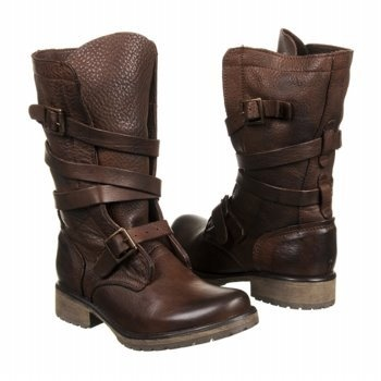 Steve Madden Banddit Boots in Brown Leather (worn by Katniss during her infamous shooting session).