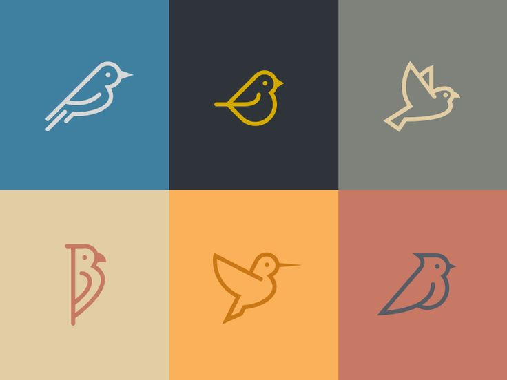 Birds by Deividas Grauzinis. Elegantly simple.