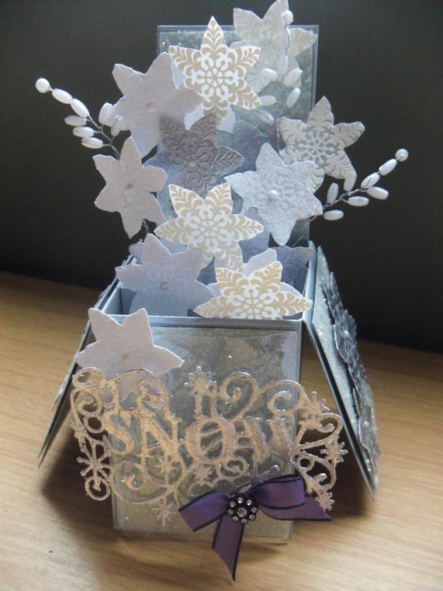 """Sue Wilson """"Let it Snow"""" Box card"""