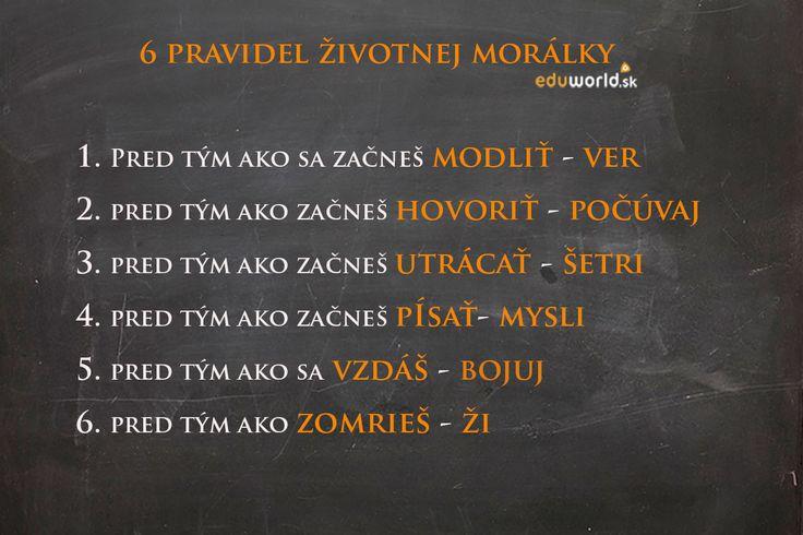 6 pravidiel životnej morálky
