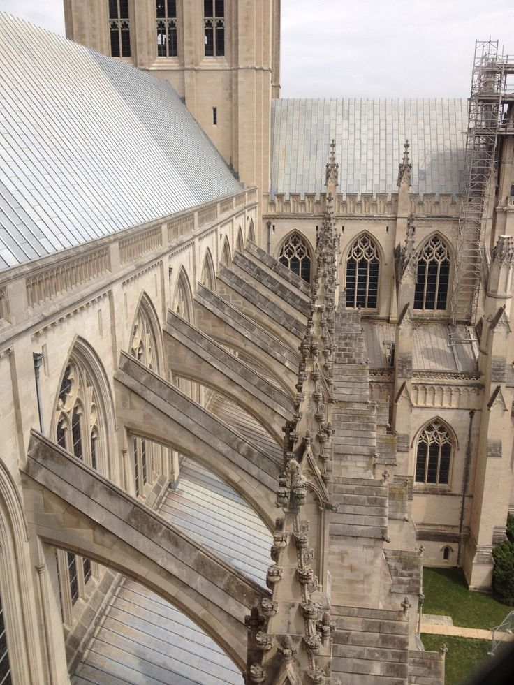 gothic architecture flying buttresses Google Search