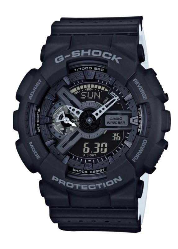Casio Black Perforated Band Alarm Chronograph G Shock Watch Quality Exceeds Price