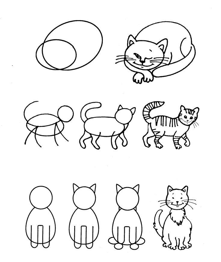 Картинки животных как рисовать для маленьких