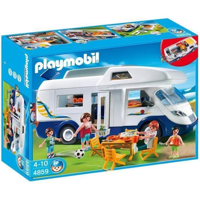 4859 - 4 personnages - 1 camping car - Mobilier de camping - Accessoires - Mixte - A partir de 4 ans - Livré à l'unité