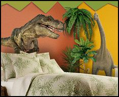 Dinosaur bedroom pinned for kidfolio the parenting for Dinosaur mural ideas