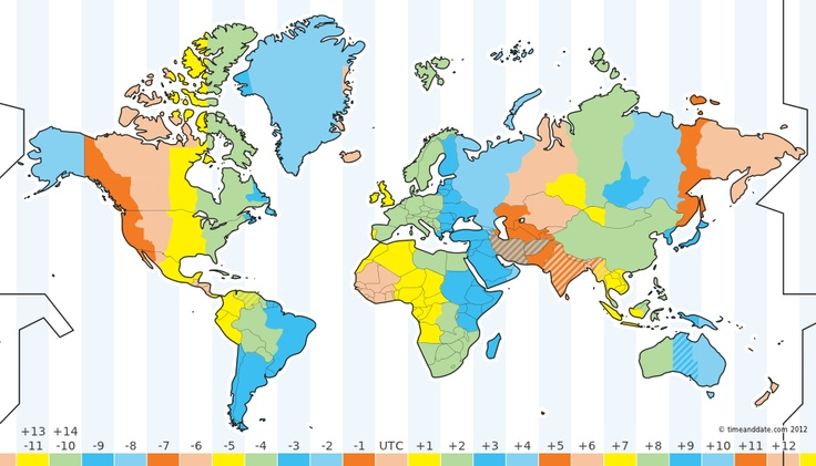 Interactive Time Zone Map