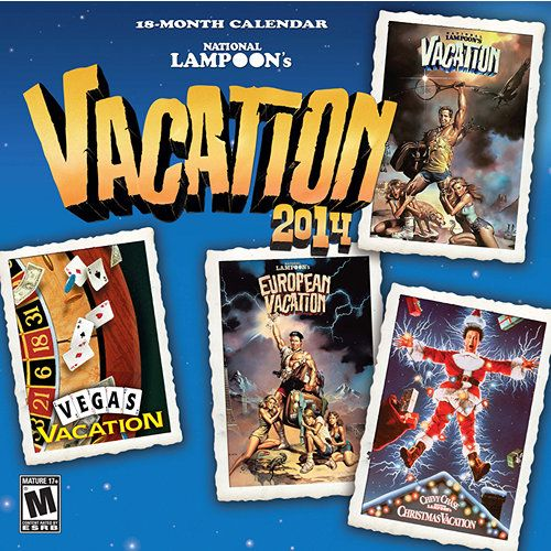National Lampoon Vacation Movies 2014 Wall Calendar | Comedy Movies | CALENDARS.COM - $14.99 National Lampoon's Vacation movies are comedy classics. Following the misadventures of the Griswold family, headed by Chevy Chase as Clark Griswold, the hit comedy franchise is full of laugh-out-loud shenanigans. Featuring production stills from the films, this National Lampoon's Vacation Movies calendar captures some of the movies' most memorable moments.