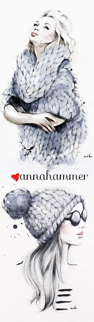 "Fashion Illustrations, inspired by ""Sweater Weather"" song"