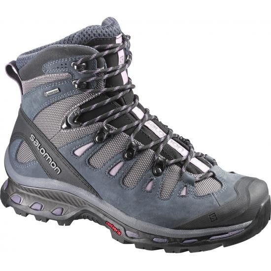 """The Salomon Quest 4D II GTX, our Top Pick for Fastpacking, exemplifies the latest design innovations in hiking boots. Salomon has built a midweight hiking boot that remains true to the comfort and function of their award winning trail runners, while providing the support and ankle stability that hikers and backpackers expect from a boot. """"Fastpacking"""" applies the modern alpinist's light and fast approach to backpacking."""