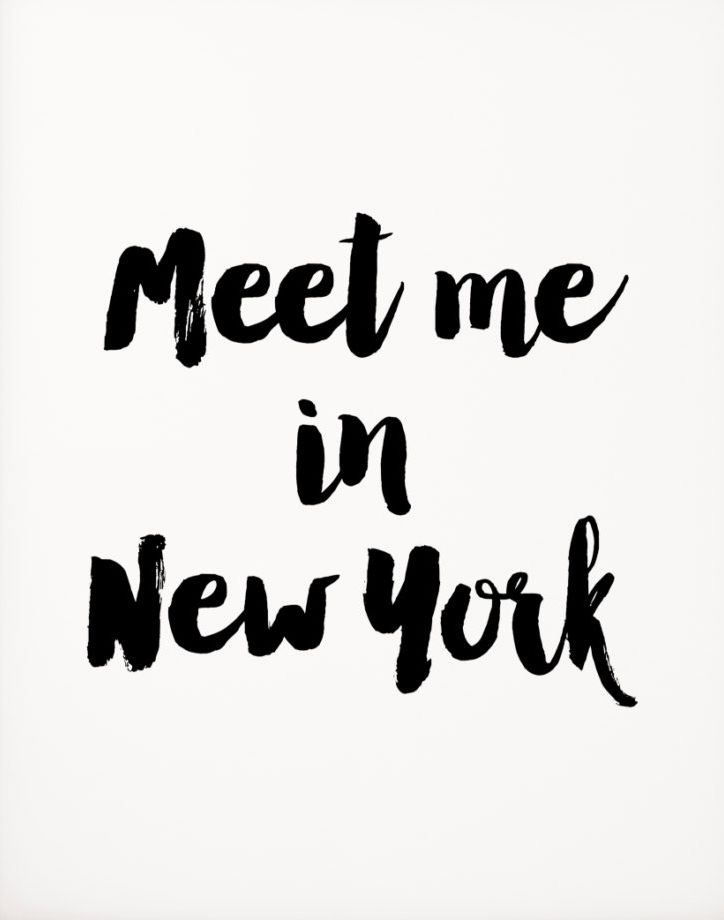 Meet me in New York New York City Travel Print Love quote wall quote love print…