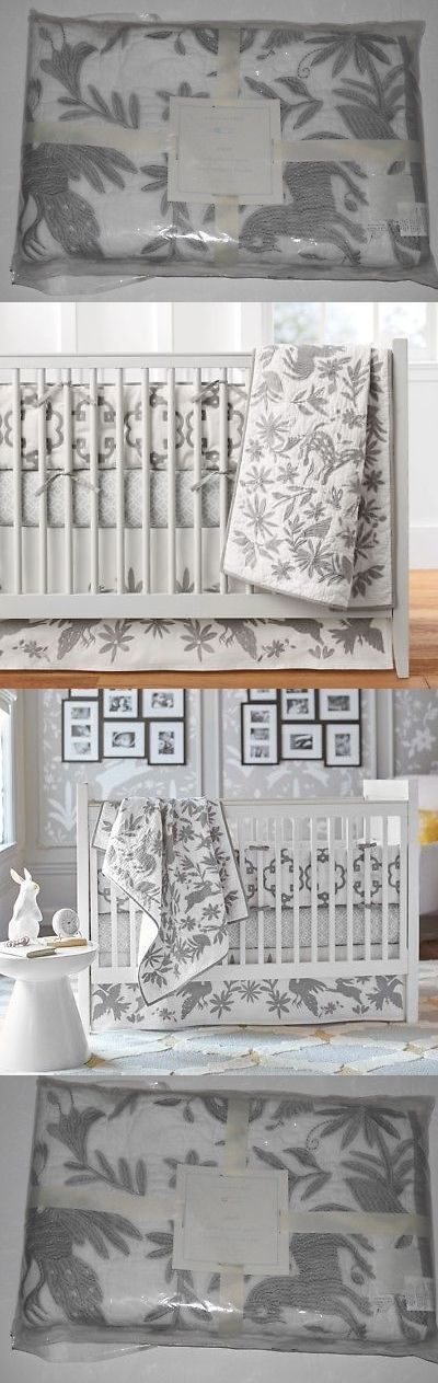 Quilts and Coverlets 180908: New Pottery Barn Baby Piper Embroidered Crib Quilt Toddler Birds Gray White Nwt -> BUY IT NOW ONLY: $99.97 on eBay!