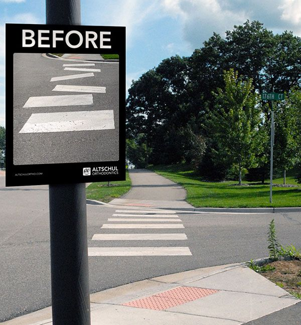 Creative #outdooradvertising    Altschul Orthodontics Gives You A Straight Smile