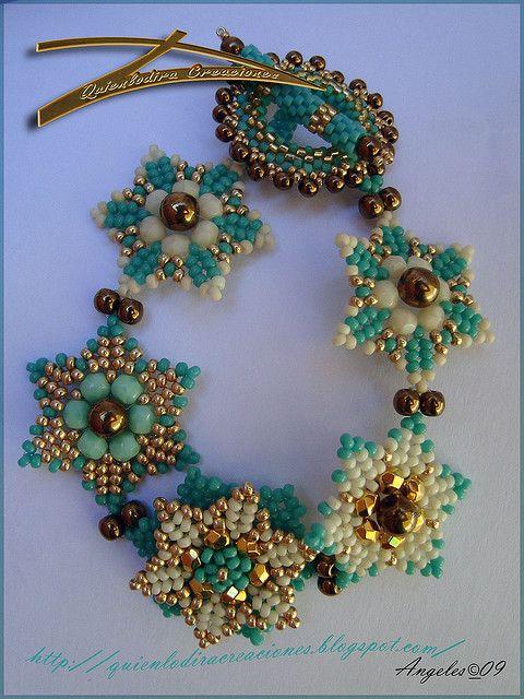 A pattern for bracelet Seis Puntas