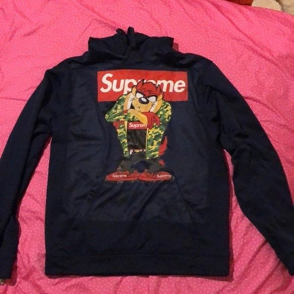 37555c320fd1 TAZ Pullover BUGS BUNNY Hoodies sweatshirt SUPREME PARODY ARMY COAT size  xs-3xl  fashion  clothing  shoes  accessories  mensclothing  shirts (ebay  link)