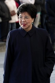 Margaret Chan, Director-General, World Health Organization.  As leader of the WHO, Chan is the sole person with the authority to call a worldwide pandemic; her recommendations on drugs & treatments direct countries battling major diseases & viruses like malaria & HIV/AIDS. Chan was born in the People's Republic of China.   She is one of Forbes 100 most Powerful Women http://www.forbes.com/sites/carolinehoward/2013/05/22/the-worlds-most-powerful-women-2013/
