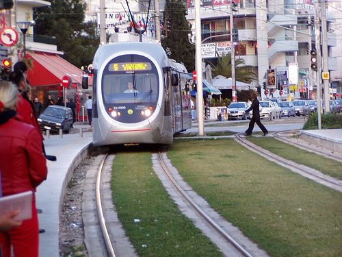 The Tram, In Glyfada Greece take it go shopping at Replay for jeans or Serafim for jewels  then go swimming and there is the night life.....