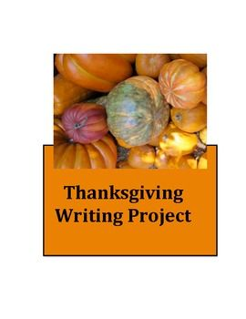 Thanksgiving Writing Project focusing on the five senses to organize the paragraphs.  $