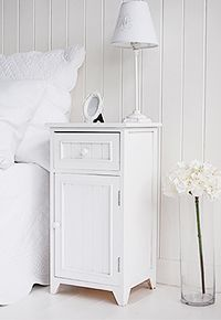 Maine white bedside cabinet