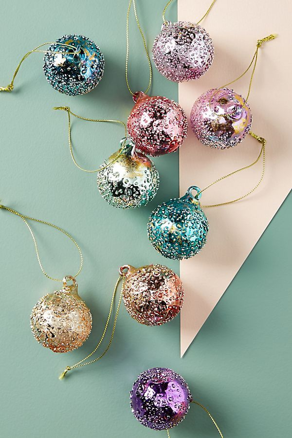 Dewdrop Ornaments Set Of 9 Anthropologie Christmas Christmas Ornaments