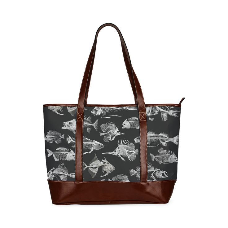 SKELETON FISH Tote Handbag (Model 1642)  Designed by Krydy $ 46.90 #ootd #outfitoftheday #lookoftheday #TagsForLikes #TFLers #fashion #fashiongram #style #love #beautiful #currentlywearing #lookbook #wiwt #whatiwore #whatiworetoday #ootdshare #outfit #clothes #wiw #mylook #fashionista #todayimwearing #instastyle #TagsForLikesApp #instafashion #outfitpost #fashionpost #todaysoutfit #fashiondiaries #cristinaguggeri #krydy #sneakerfreak #sneakerporn #shoeporn #fashion #swag #instagood