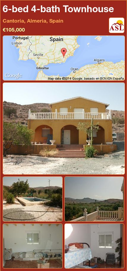 6-bed 4-bath Townhouse in Cantoria, Almeria, Spain ►€105,000 #PropertyForSaleInSpain