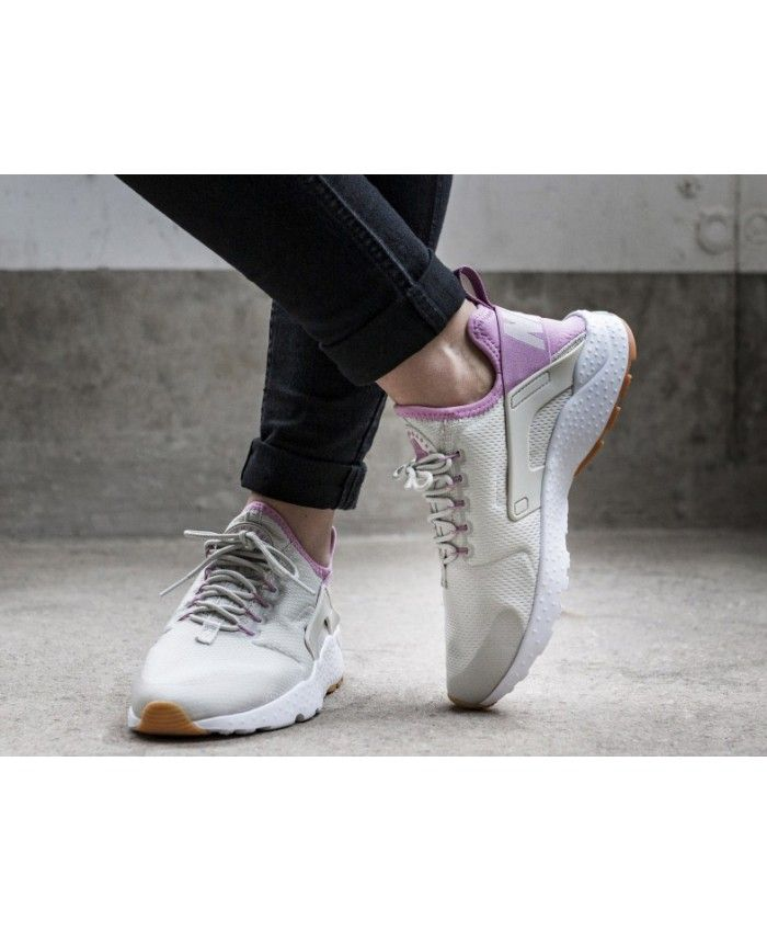 7f09d838cbc0 Nike Air Huarache Run Ultra Light Bone Orchid Gum Yellow White Trainers  Outlet UK