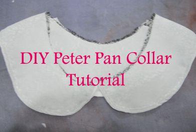 A little DecadenceDIY Peter Pan collar Tutorial for beginners very detail