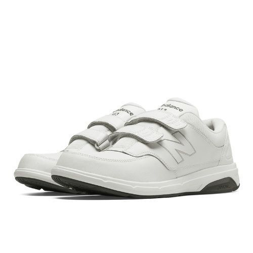 Hook and Loop 813 Men's Health Walking Shoes - White (MW813HWT)