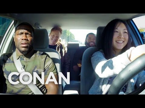 Kevin Hart, Ice Cube and Conan O'Brien try to teach this girl how to drive and it's a gloriously funny mess – Rare