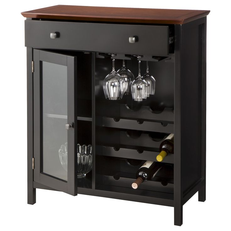 Marin Wine & Storage Cabinet - Tobacco : Target