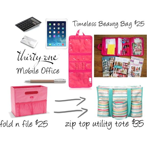 """Thirty-One Mobile Office"" by emilie-mcfarlane on Polyvore"