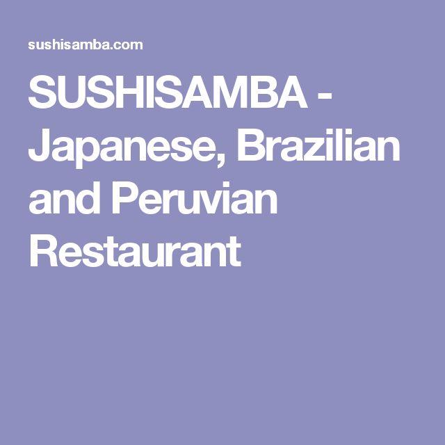 SUSHISAMBA - Japanese, Brazilian and Peruvian Restaurant