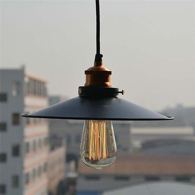 Vintage Industrial  Copper Ceiling Lamp Light Pendant Lighting Edison Bulb DIY