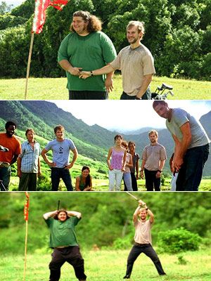 Lost (Season 1 -- Episode 8: Solitary), Dominic Monaghan, ... | I love the friendship moments in LOST like when Hurley gets the guys to play golf on the island...—Ashly
