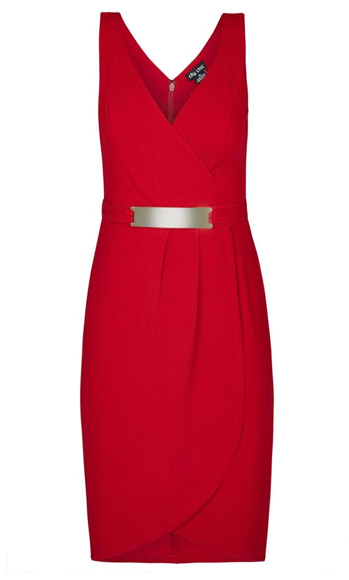 City Chic - MAGIC WRAP DRESS - Women's Plus Size Fashion