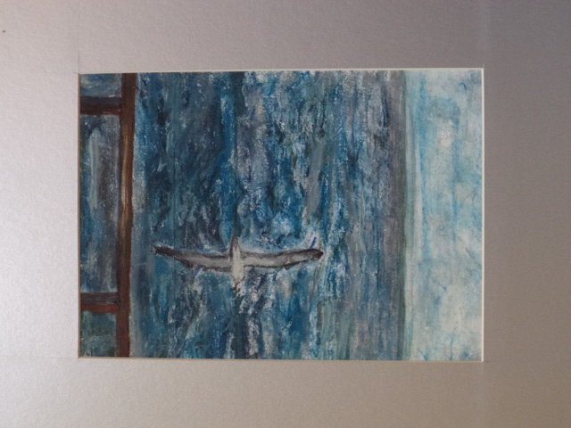 Untitled by Marshall  Mixed media on paper  275 x 195 (Mounted 405 x 330)