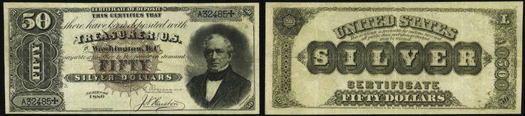 1880 - $50.00 - SILVER CERTIFICATE