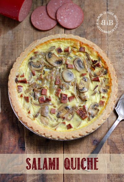 Dairy-free salami quiche - a great side dish for the holidays!